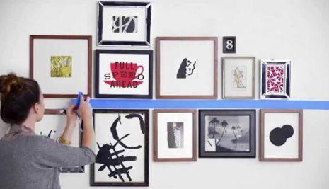 Consigli su come appendere i quadri nella maniera migliore