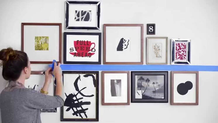 consigli su come appendere i quadri nella maniera migliore - tosm